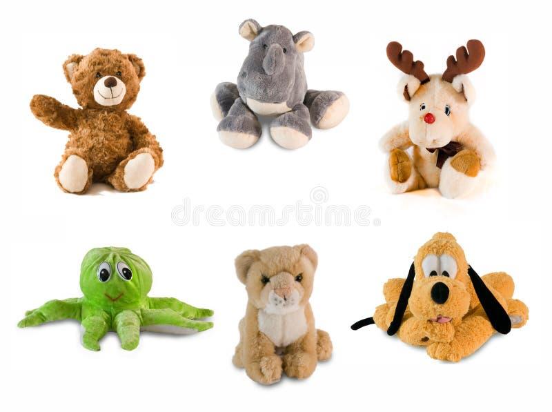 Colagem do brinquedo do material imagens de stock royalty free