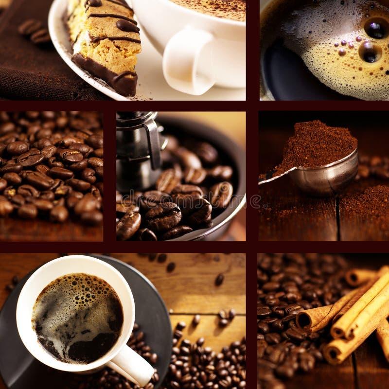 Colagem do café fotos de stock
