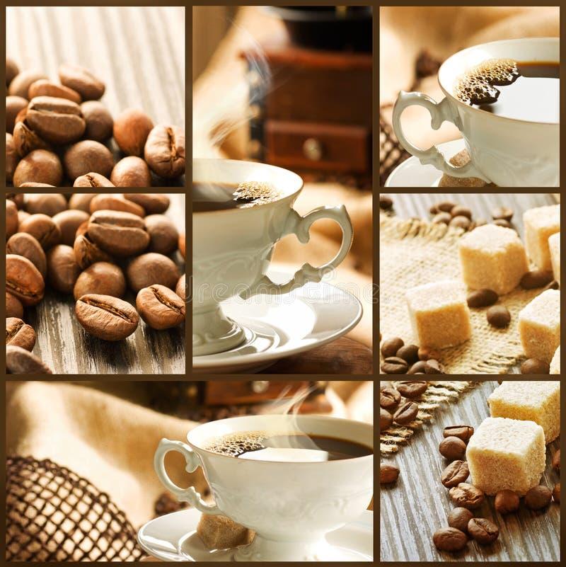 Colagem do café foto de stock