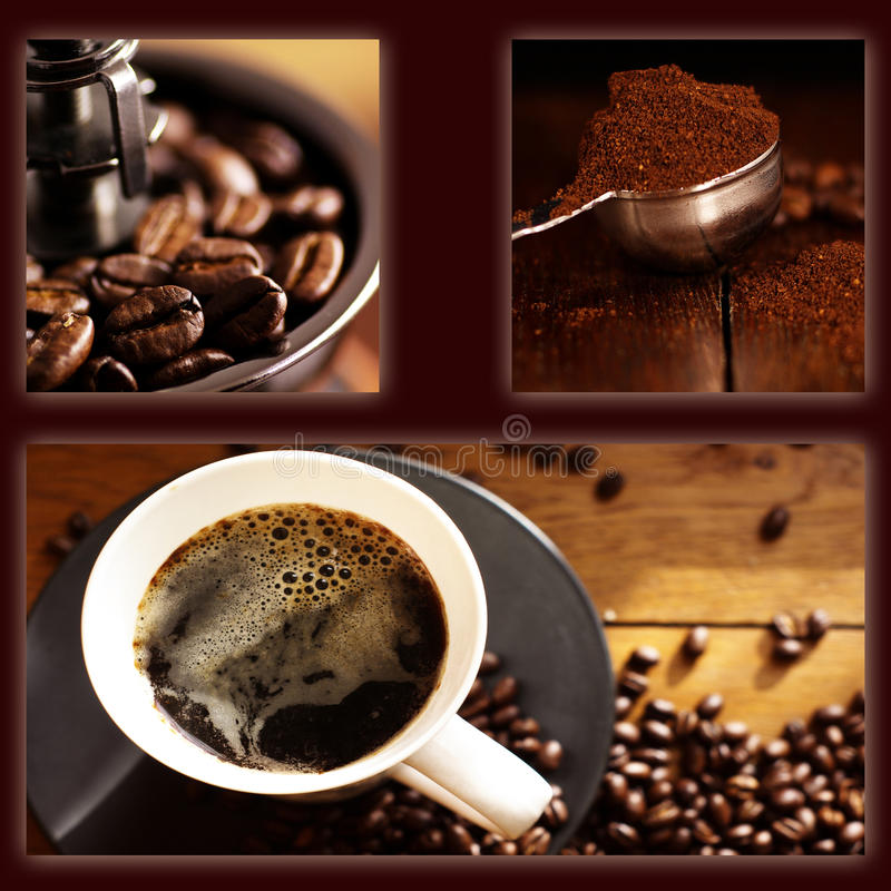 Colagem do café imagem de stock royalty free