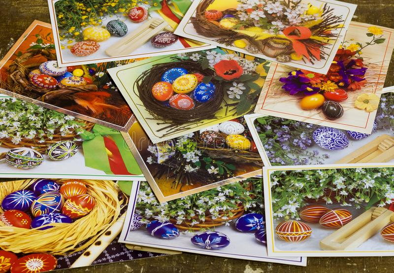 Colagem do cartão da Páscoa foto H Bakaljarova CERCA de 1980 fotos de stock