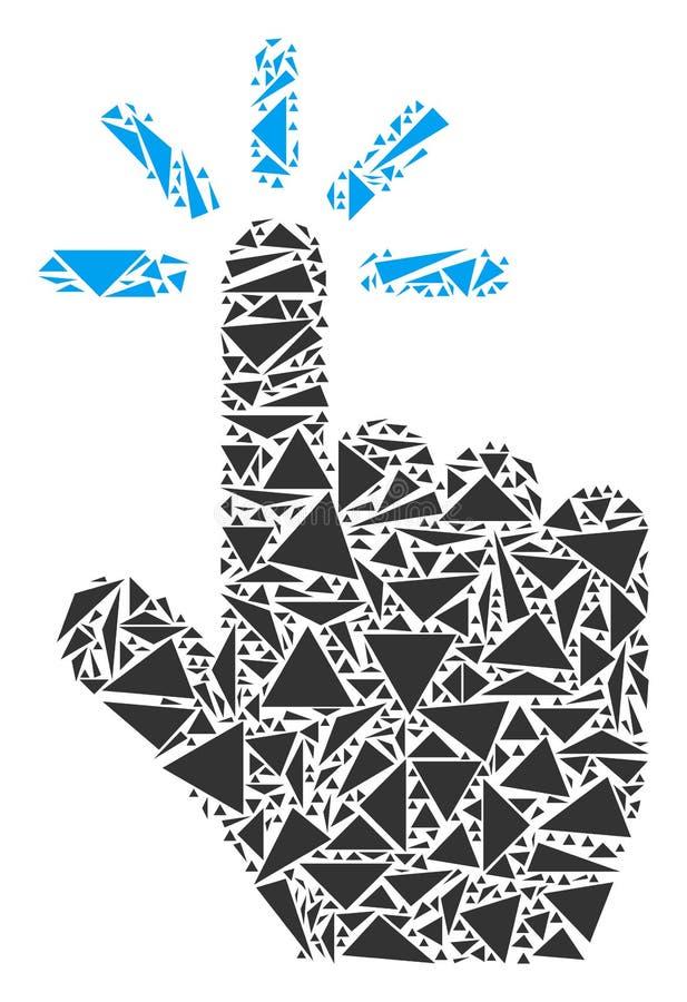 Colagem do clique dos triângulos ilustração do vetor