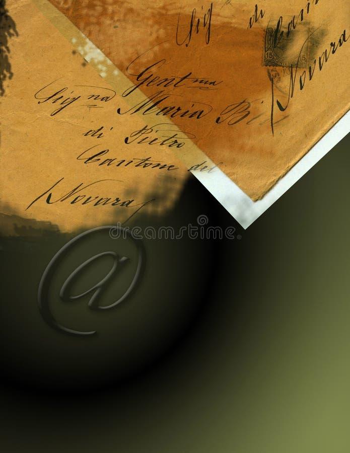 Colagem do convite ilustração do vetor