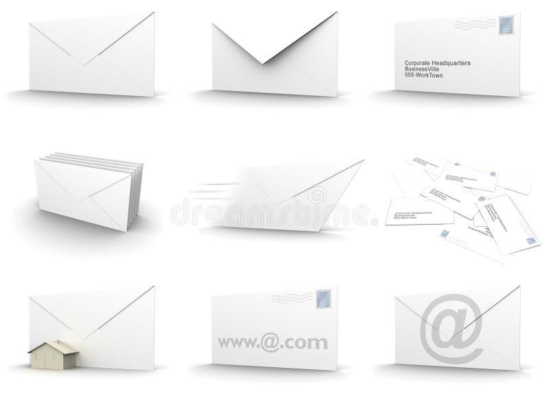 Colagem do envelope ilustração do vetor