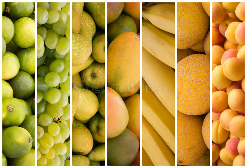 Colagem do fruto - fundo do alimento foto de stock royalty free