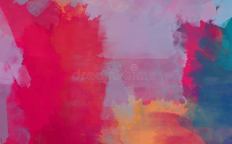 Colagem do Grunge, fundo do estilo da aquarela ilustração stock