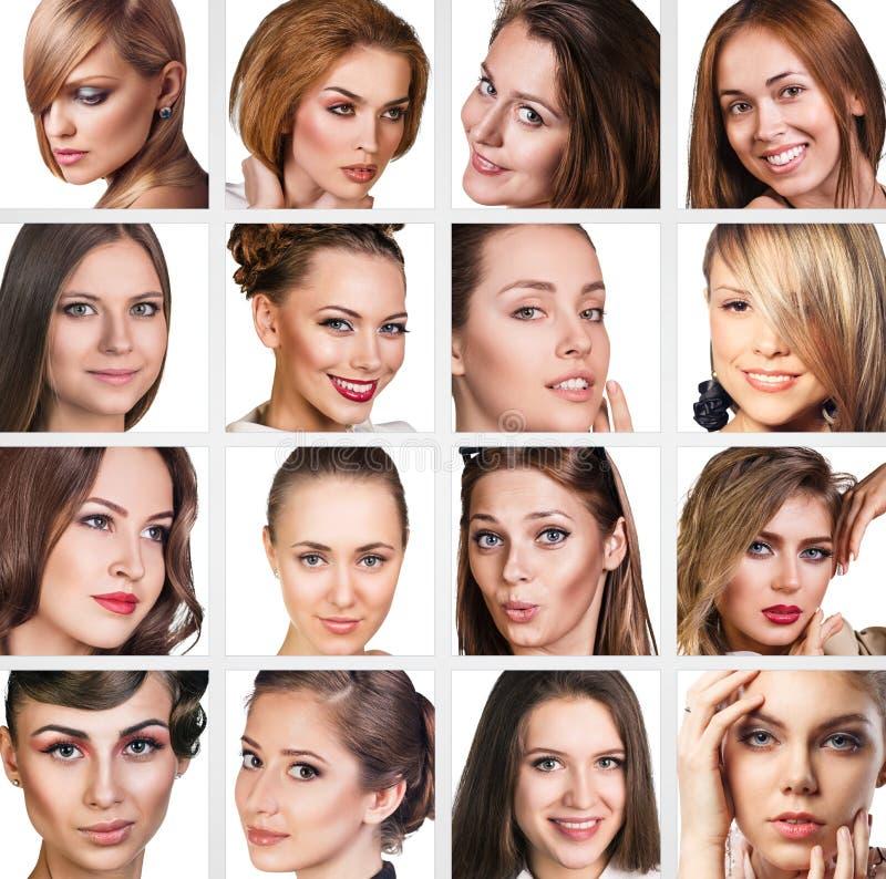 Colagem do mulheres bonitas foto de stock