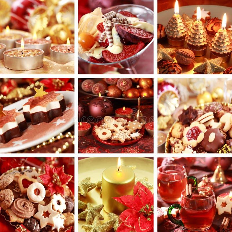 Colagem do Natal foto de stock