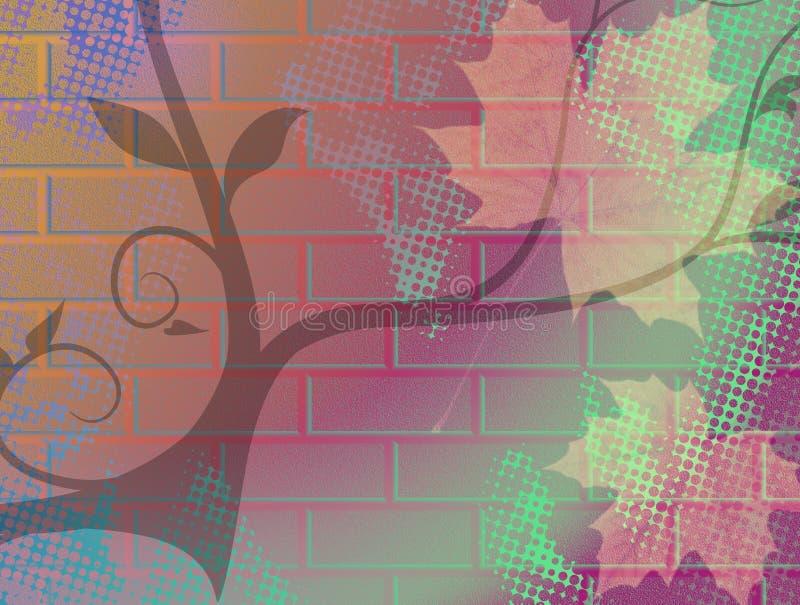 Parede floral do Grunge ilustração stock