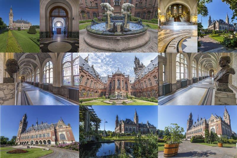 Colagem do palácio da paz imagem de stock royalty free