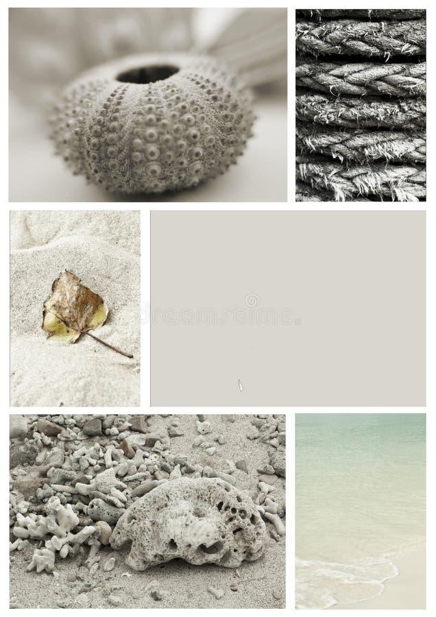 Colagem do Seashore imagens de stock