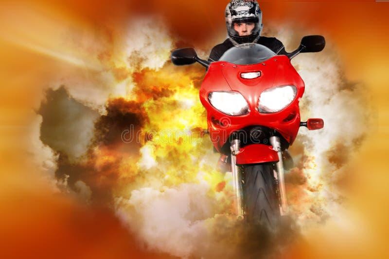 Colagem do Stuntman ilustração royalty free