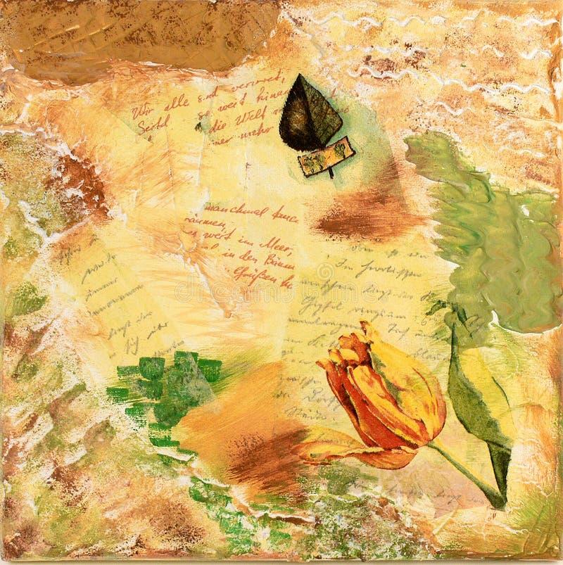 Colagem do Tulip ilustração royalty free