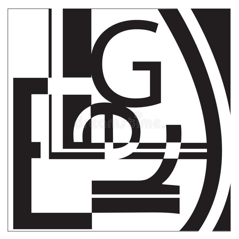 Colagem do Typography ilustração royalty free