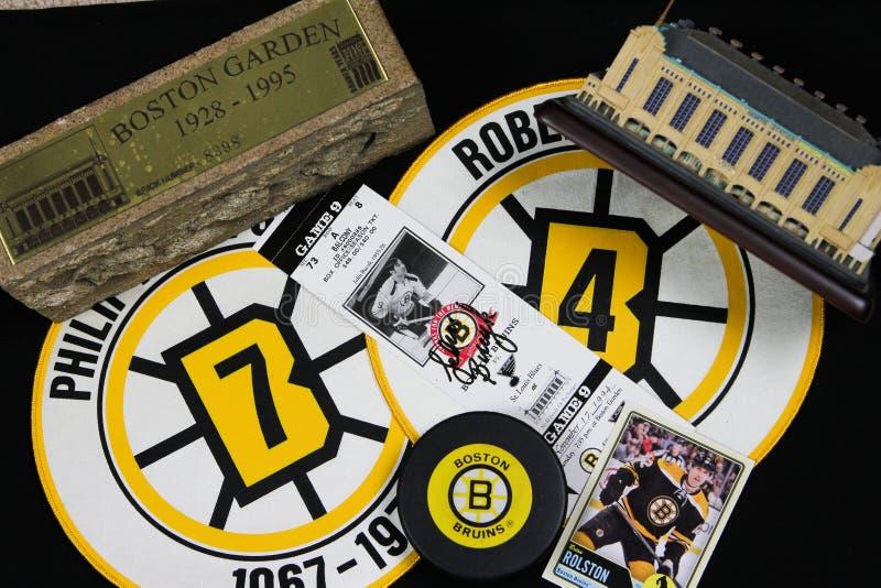 Colagem dos Boston Bruins fotos de stock