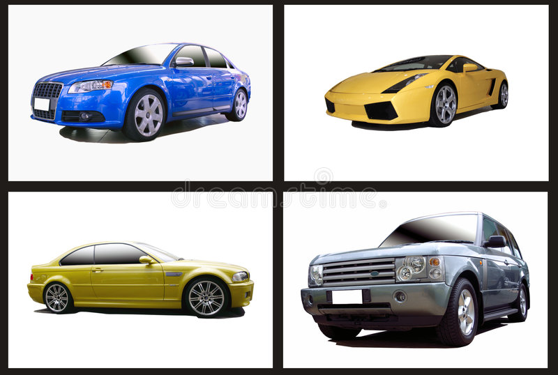 Colagem dos carros ilustração royalty free