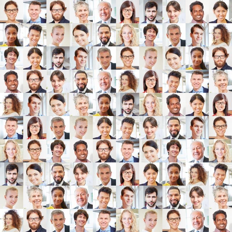 Colagem dos executivos dos retratos foto de stock