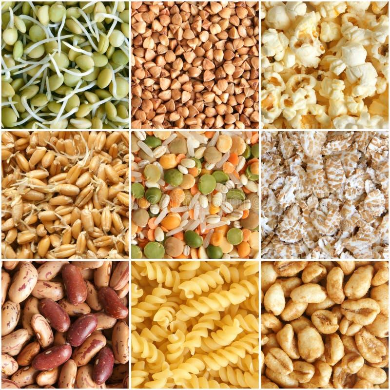 Colagem dos ingredientes de alimento imagem de stock royalty free