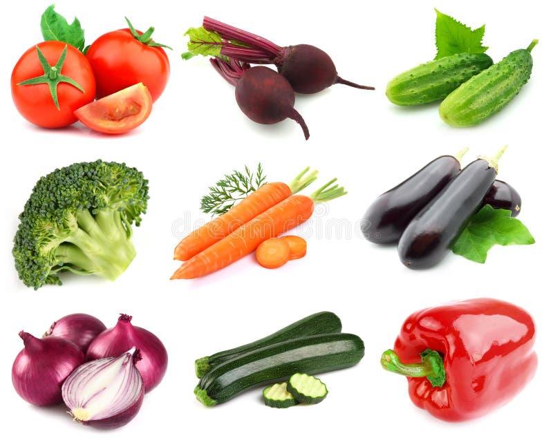 Colagem dos legumes frescos imagens de stock