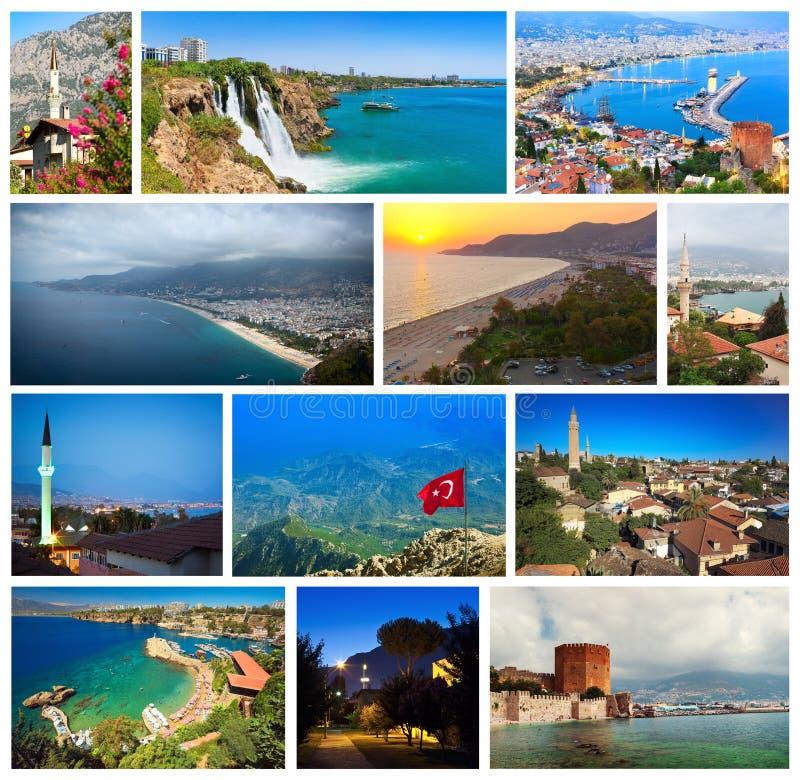 Colagem dos marcos de Turquia imagens de stock