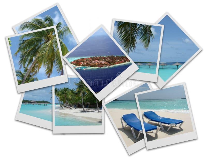 Colagem dos Polaroids ilustração stock