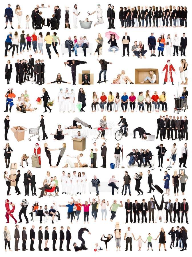 Colagem dos povos fotos de stock royalty free