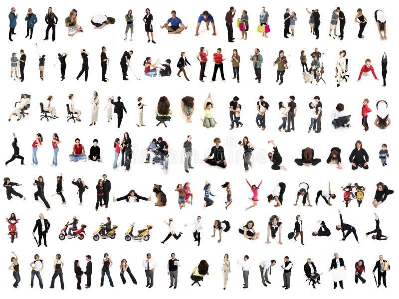 Colagem dos povos fotos de stock