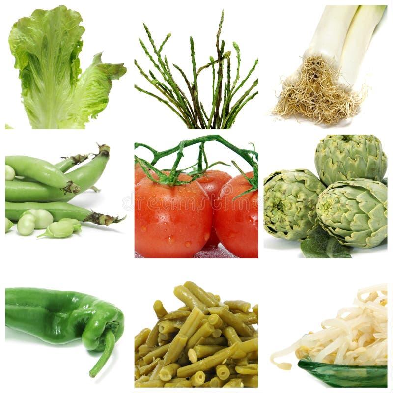 Colagem dos vegetais foto de stock