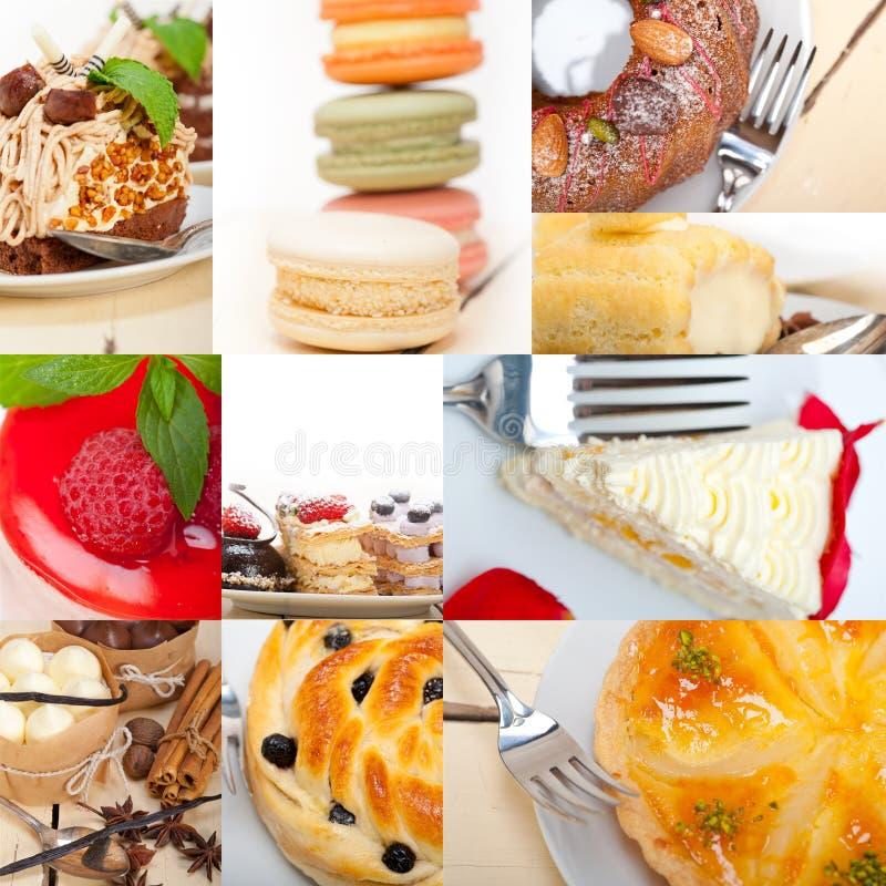 Colagem fresca do bolo da sobremesa foto de stock royalty free