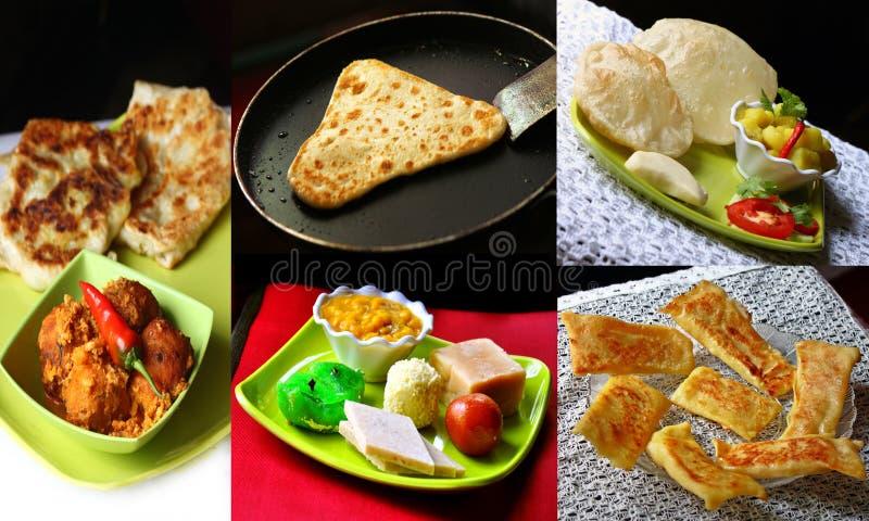 Colagem indiana do alimento foto de stock