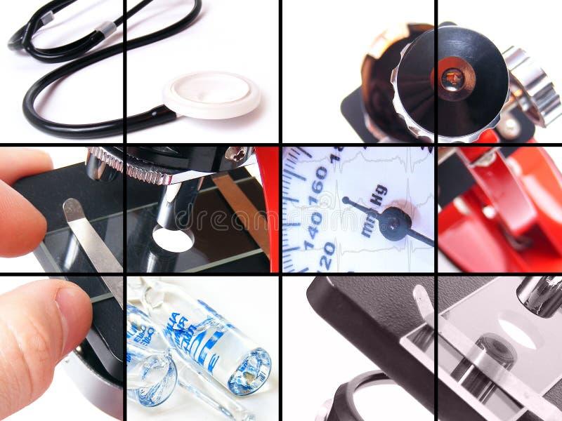 Colagem médica fotos de stock