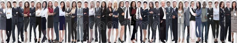 Colagem panorâmico de uma grande e equipe bem sucedida do negócio imagens de stock royalty free