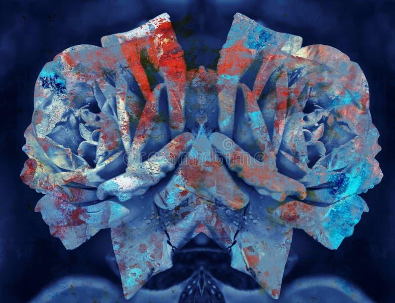 Colagem textured abstrata de Grunge ilustração royalty free