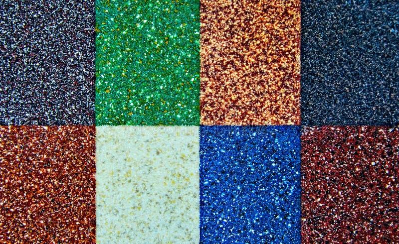 Colagem Textured Imagens de fundo Grupo de oito cores imagem de stock