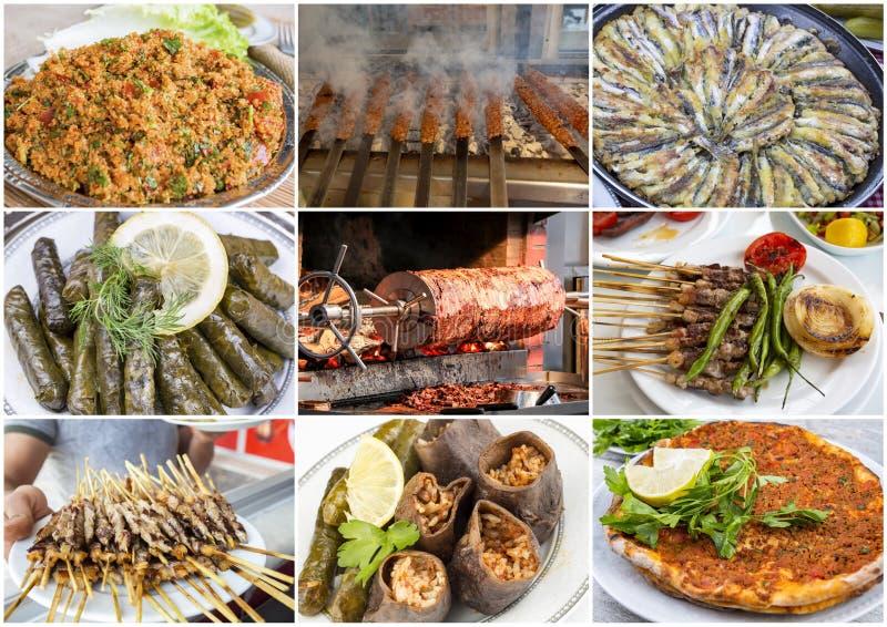 Colagem turca deliciosa tradicional dos alimentos foto do conceito do alimento imagem de stock