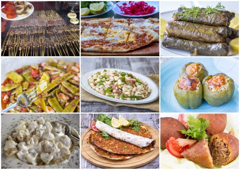 Colagem turca deliciosa tradicional dos alimentos foto do conceito do alimento fotografia de stock