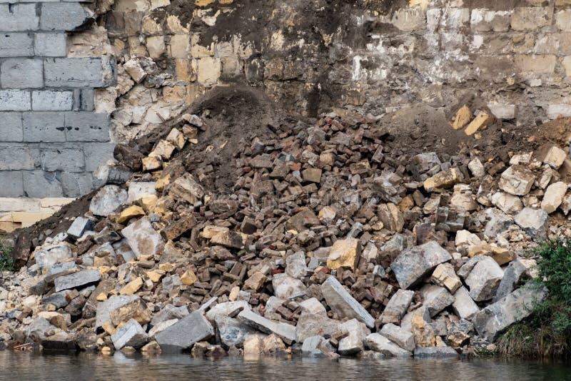 Colapso da parede medieval de Maastricht foto de stock royalty free