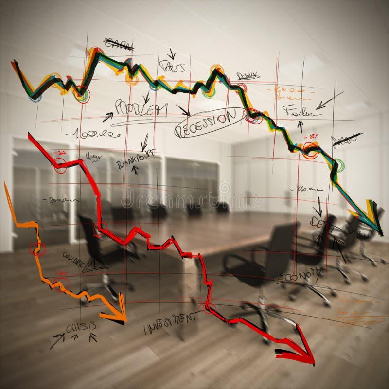 Colapso e diminuição imagens de stock