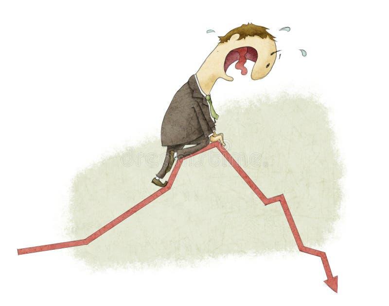 Colapso financiero ilustración del vector