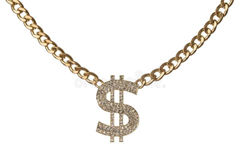 Colar do dólar fotografia de stock royalty free