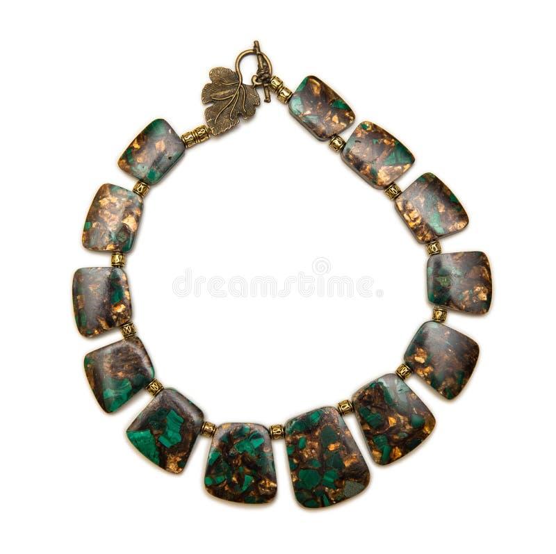 A colar elegante agradável isolada no fundo branco imagem de stock royalty free