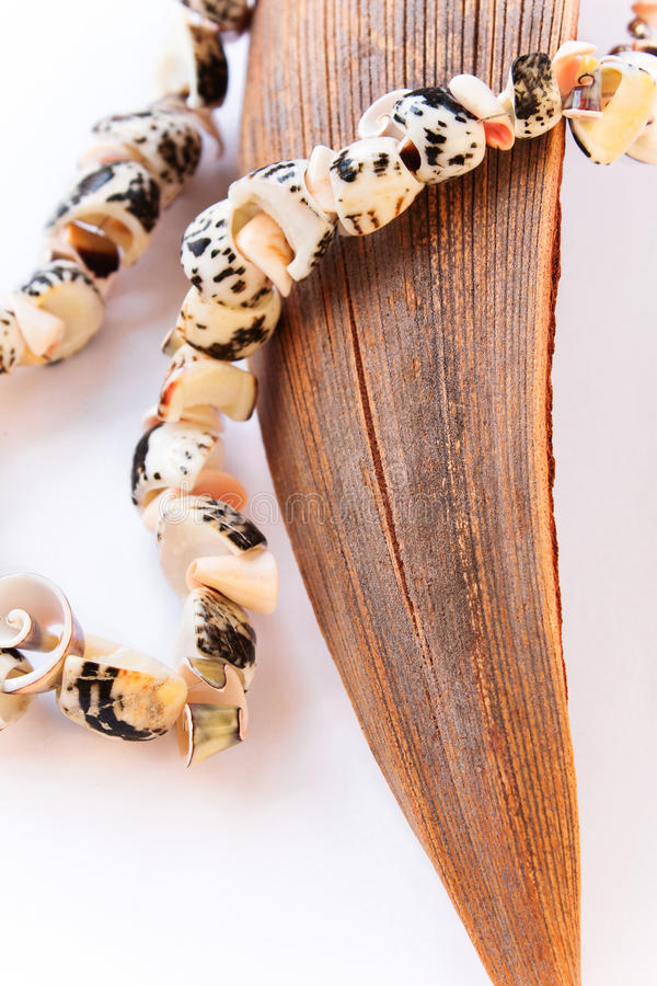 Colar feita dos seashells fotos de stock