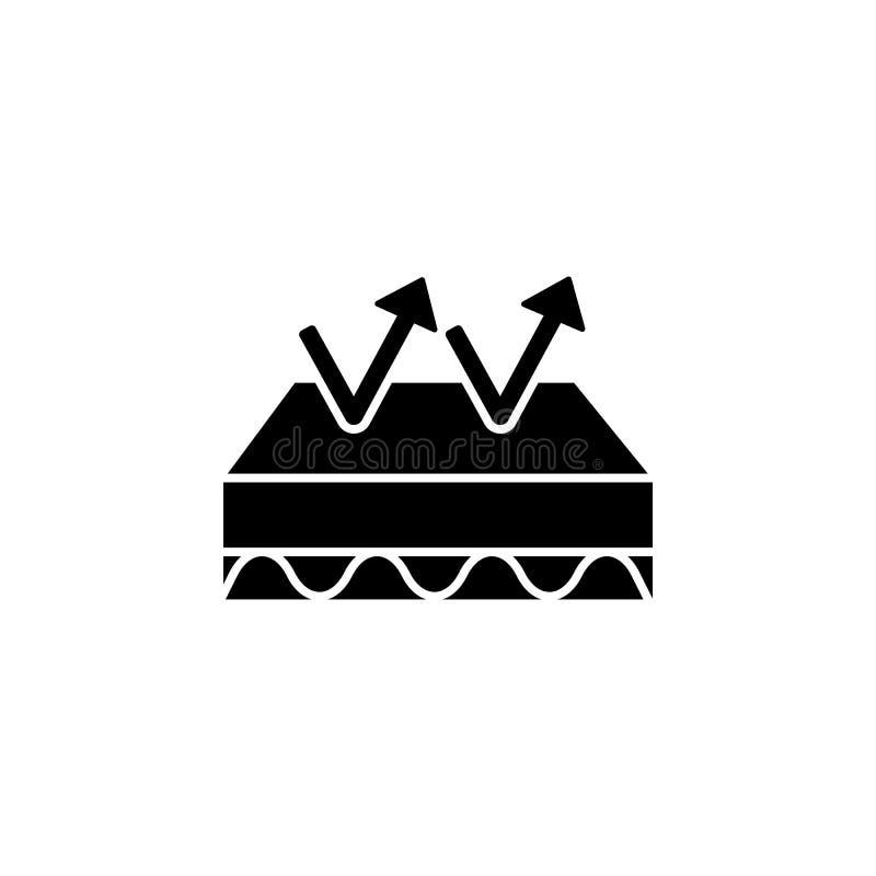 Colas, flechas, ícono de elasticidad Facilidad simple para dormir iconos para ui y ux, sitio web o aplicación móvil libre illustration