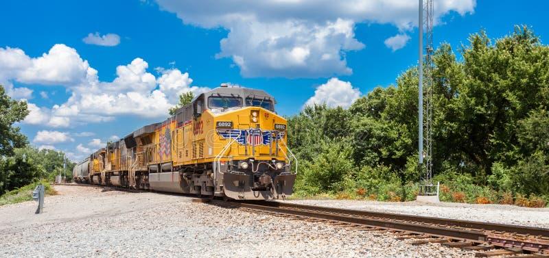 COLBERT, l'OKLAHOMA - 8 JUILLET 2018 - train de fret Pacifique des syndicats a photographie stock