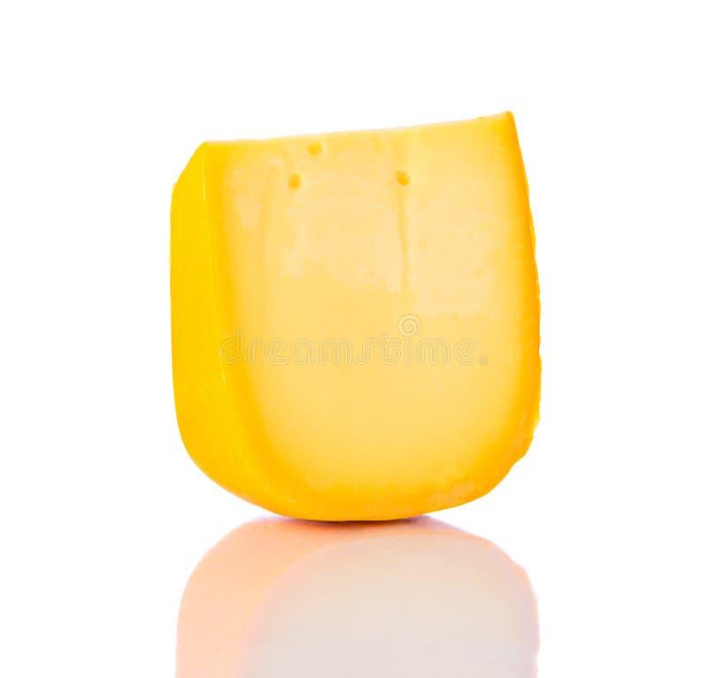 Colby Swiss Cheddar Cheese en blanco imágenes de archivo libres de regalías