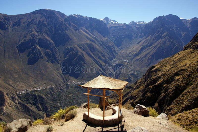 Colca canyon, Peru. Colca canyon, one of the deepest canyons on the world, Peru royalty free stock photo