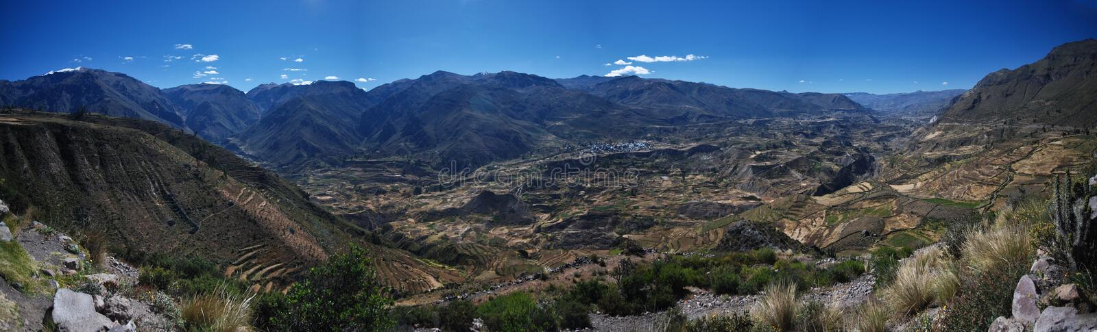 Colca Canyon of Peru royalty free stock image