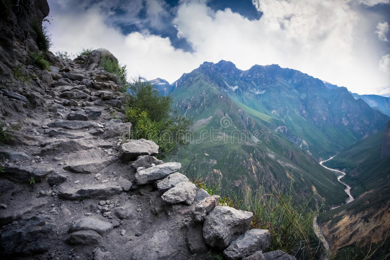 Colca Canyon. Peru. The second worlds deepest canyon stock photos