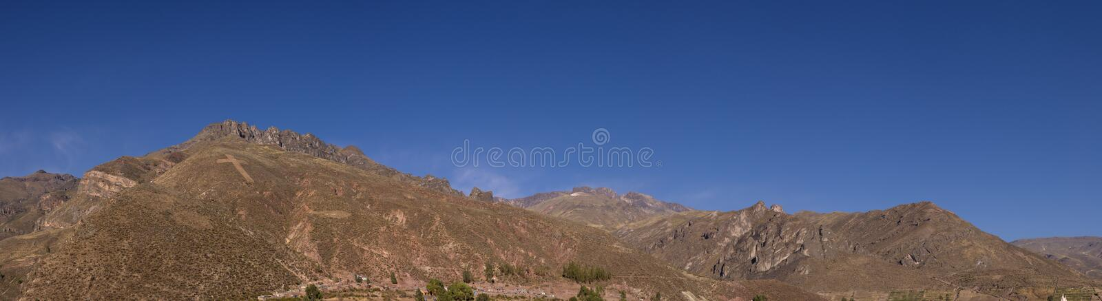 Colca mountains seen from Chivay stock images