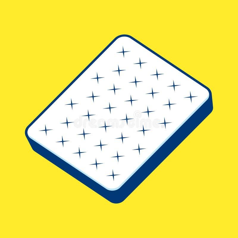 Colchón blanco llano ilustración del vector